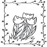 Allerhand Ausmalbilder - Tulpen