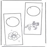 Malvorlagen Basteln - Türhänger 2