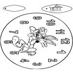 Malvorlagen Basteln - Uhr Bugs Bunny