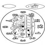 Malvorlagen Basteln - Uhr Cars