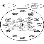 Malvorlagen Basteln - Uhr K3