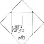 Malvorlagen Basteln - Umschlag Babar