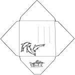 Malvorlagen Basteln - Umschlag Delfin