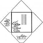 Malvorlagen Basteln - Umschlag K3