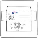 Malvorlagen Basteln - Umschlag Primalac