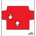 Ausmalbilder Weihnachten - Umschlag Schneemann
