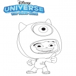 Ausmalbilder Comicfigure - Universe: the video game Mike