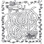 Malvorlagen Basteln - Unterwasserlabyrinth
