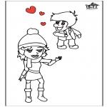 Ausmalbilder Themen - Valentin 13