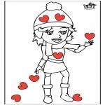 Ausmalbilder Themen - Valentin 14