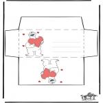 Ausmalbilder Themen - Valentin Briefumschlag 2