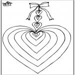 Ausmalbilder Themen - Valentin Herz