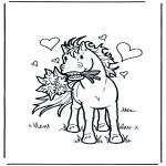 Ausmalbilder Themen - Valentin Pferd