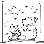 Ausmalbilder Themen - Valentin Po der Bär
