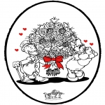 Ausmalbilder Themen - Valentin Stechkarte 3
