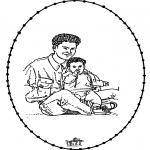 Ausmalbilder Themen - Vatertag 1