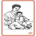 Ausmalbilder Themen - Vatertag 2