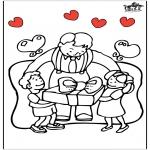 Ausmalbilder Themen - Vatertag 5