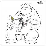 Ausmalbilder Themen - Vatertag Bären
