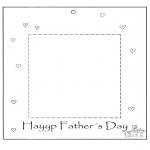 Ausmalbilder Themen - Vatertag Fotobilderrahmen