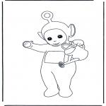 Ausmalbilder für Kinder - Vati mit Giesskanne