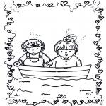 Ausmalbilder für Kinder - Verliebt 1
