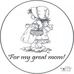 Ausmalbilder Themen - Vielen Dank Mama !