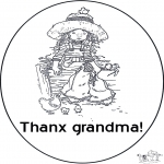Ausmalbilder Themen - Vielen Dank Oma !