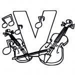 Allerhand Ausmalbilder - Violinen