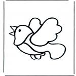 Ausmalbilder Tiere - Vogel