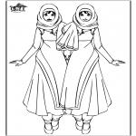 Ausmalbilder für Kinder - Warda Mädchen
