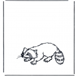Ausmalbilder Tiere - Waschbär