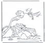 Waschbär und Kolibri