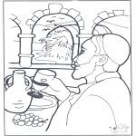 Bibel Ausmalbilder - Wasser wird Wein
