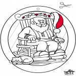 Ausmalbilder Weihnachten - Weihnachten Fensterhänger 4