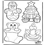 Ausmalbilder Weihnachten - Weihnachten Hänger 1