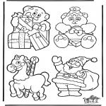 Ausmalbilder Weihnachten - Weihnachten Hänger 2