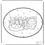 Ausmalbilder Weihnachten - Weihnachten Stechkarte 23
