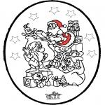 Ausmalbilder Weihnachten - Weihnachten Stechkarte 24