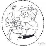Ausmalbilder Weihnachten - Weihnachten Stickkarte 22