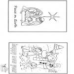 Malvorlagen Basteln - Weihnachten und Sylvester  2