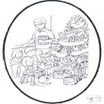 Ausmalbilder Weihnachten - Weihnachts Stechkarte 10