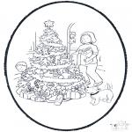 Ausmalbilder Weihnachten - Weihnachts Stechkarte 11