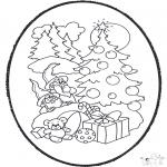 Ausmalbilder Weihnachten - Weihnachts Stechkarte 12