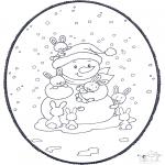 Ausmalbilder Weihnachten - Weihnachts Stechkarte 2