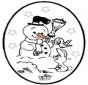 Weihnachts Stechkarte 25