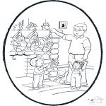 Ausmalbilder Weihnachten - Weihnachts Stechkarte 6