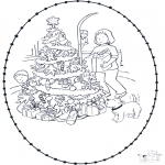 Ausmalbilder Weihnachten - Weihnachts Stechkarte 7