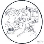Ausmalbilder Weihnachten - Weihnachts Stechkarte 8