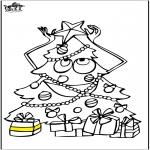 Ausmalbilder Weihnachten - Weihnachtsbaum 5